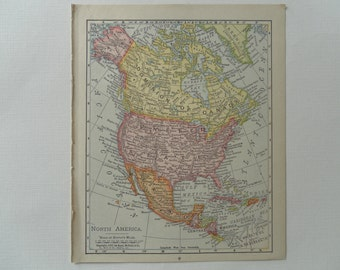 Vintage Map of North America 1899