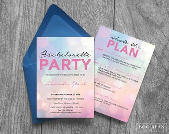 Pink Bachelorette Invitation  | Printable Invitation | Bachelorette Invitation | Bachelorette Party | Digital Invitation