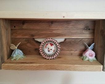 Rustic Re-purposed Solid Wood Shadow Box Shelf (Floating Shelf Box)