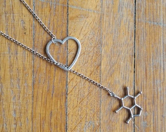 I love coffee necklace