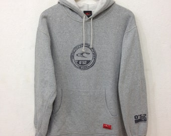 Rare !! O'NEIL 0'52 Grey Hoodie Surfing Streetwear Medium Size