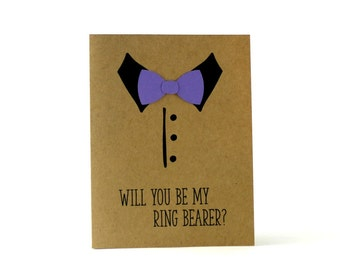 Ring Bearer Card, Will You Be Our, Groomsman Card, Best Man Card, Bowtie Card, Suit Up Card, Ring Bearer Proposal, Groomsmen Proposal