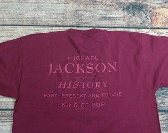 Vintage Michael Jackson T Shirt Size XL 1994 Michael Jackson History Past Present Future King of Pop