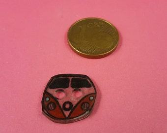 "Children subject button, button with VW bus ""Bulli"""