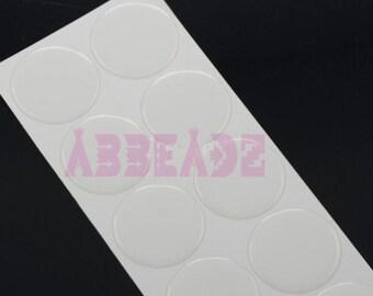 "100 - 2"" Round Clear or Glitter Epoxy Cabochon Stickers"