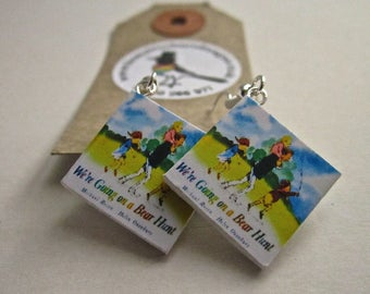 "We're Going On A Bear Hunt  Book Earrings from ""The Earring Library"""