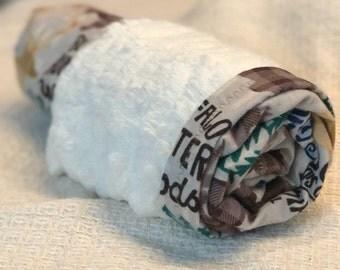 Woodland Minky Baby Blanket- The Cuddler