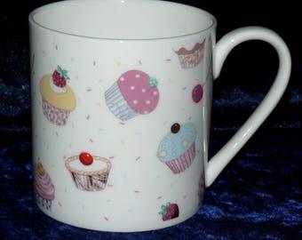 Cupcake 1 pint bone china mug personalised if required at no extra cost