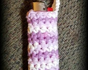 Crocheted lighter case/cover  zipper pull