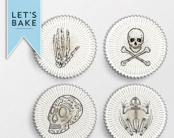 Skull and Bones Cupcake toppers