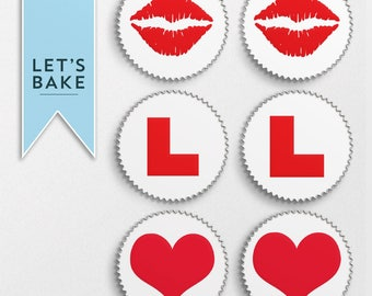 Hen do Cupcake toppers