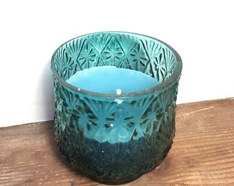 Seaglass candle