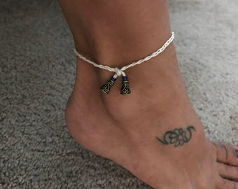 Braided anklet