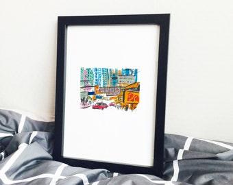 Hong Kong Street 001, Hong Kong Art, Hong Kong Painting, Hong Kong Print, Hong Kong Frame Art