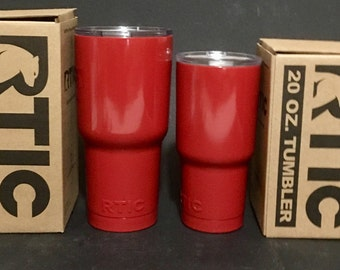 Custom Prismatic Very Red Powder Coated RTIC Tumbler perfect valentines gift