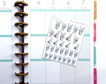 Eddy the Bunny - Planner (Erin Condren and Happy Planner Stickers)