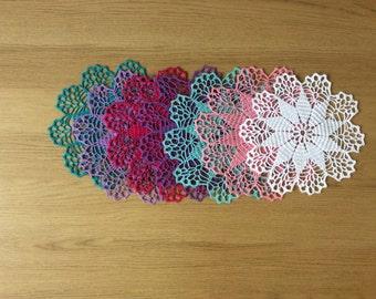 Hand crochet doily,napkin,lace decor doily center piece,Christmas gift