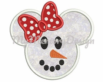 Snowman girl embroidery design - Chistmas embroidery - Machine embroidery design - INSTANT DOWNLOAD - 3 size