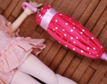 D019 Cute Pink Little Umbrella For Licca Poppy Parker Barbie Fashion Royalty Momoko