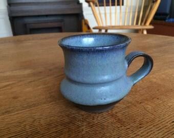 Handmade pottery mug- 8 oz ceramic coffee cup handthrown gift rustic unique glaze
