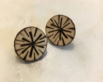 Boho Design Burnt Earring