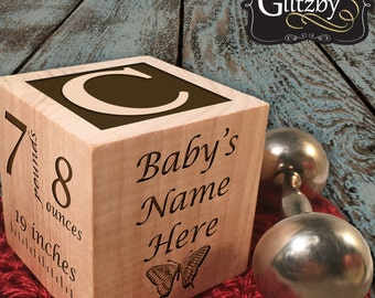 Baby Gift ideas Newborn Baby Gift Personalized Baby Gift Newborn Gift Baby Block Custom Baby Block