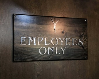 Custom Designer Sign/Plaque Wood+Metal Wall Art