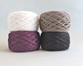 Linen Yarn / Linen Thread / Pure Linen / Natural Linen / Lace Weight Yarn / Lithuanian Linen / Textile Yarn for Weaving / Knitting / 3 Ply