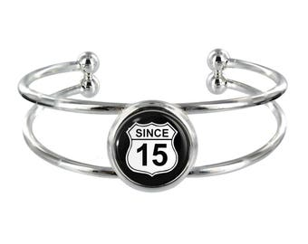 Since 15 Silver Plated Bangle in Organza Gift Bag