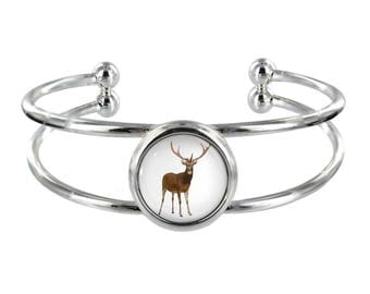 Deer Silver Plated Bangle in Organza Gift Bag