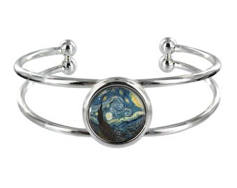 Starry Night Silver Plated Bangle in Organza Gift Bag