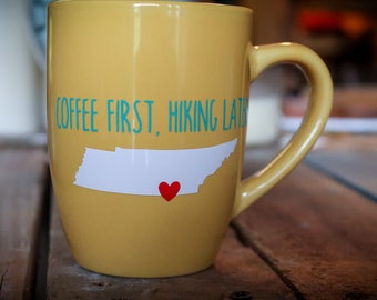 Hiking coffee mug, Chattanooga