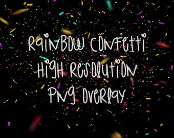 Confetti glitter overlays png for photoshop 5 pack