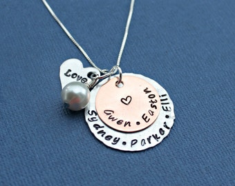 Grandmother Jewelry, Grandma Necklace, Mothers Jewelry, Customized Necklace, Grandchildren, Gift for Mom