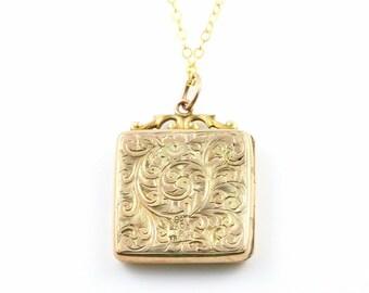 Antique 9ct Gold Victorian Locket- Circa 1850