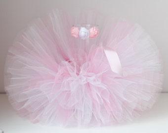 Tutu and Headband Set.Pink and White tutu ,Pink White tutu, Baby Tutu, Children Photo Prop, Tutus for Children, Pink tutu