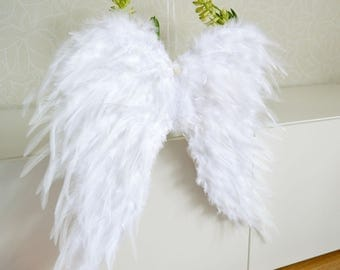 Feather Angel Wings, Large Angel Wings, Angel Wings Wall Decor