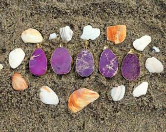 Sea Sediment Jasper // Crystal Healing Necklace // Purple Jasper Necklaces // Jasper Pendants // Gemstone / Boho Jewelry // Bohemian Jewelry