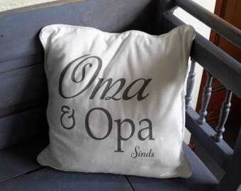 Pillow with Grandma and Grandpa since. ....