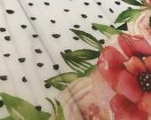 VELLUM // Polka Dot Floral Printed Vellum