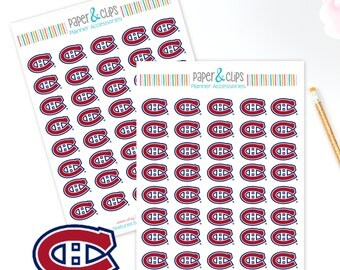 40 Montreal Canadians Hockey Reminder or Planner Stickers