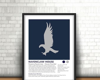 Ravenclaw Harry Potter Inspired Art Print Design And House History