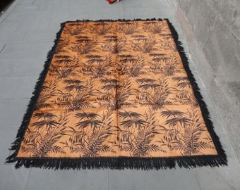 Vintage Turkish tablecloth,bedspread,wall hanging rug,78 x 58 inches