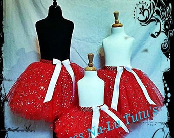 Christmas Tutu Dress - Holiday Skirt - Red Tutu Skirt - Party Dress - Flower Girl - Baby Outfit - Party Tutu - Party outfit -Birthday Dress