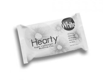 Hearty Super Lightweight Air-Dry Clay 5.25oz White