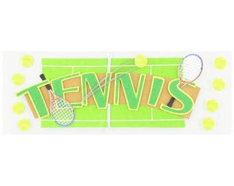 Jolee's Boutique Title Waves Dimensional Stickers Tennis