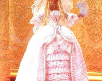 72. Barbie doll dress, crochet pattern in pdf,
