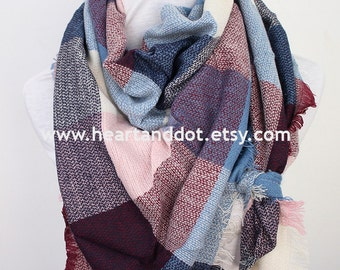 plaid blanket scarf, blanket scarf, blanket scarf plaid, womens blanket scarf, scarf blanket, womens scarves, gift for her, christmas gifts