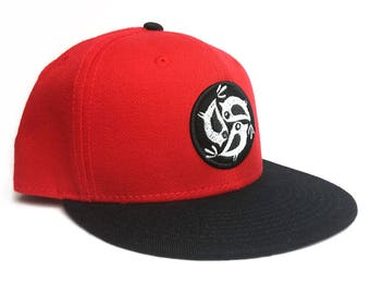 Red Three Little Birds Snapback
