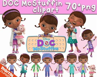 Doc McStuffin Clipart 70 PNG Images Digital Clip Art Instant Download Graphics transparent background birthday scrapbooking